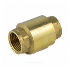Клапан обратный латунь осевой 3002 Ду 32 Ру30 Тмакс=100 оС ВР G1 1/4 диск латунь шток латунь Aquasfera 3002-04