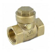 Клапан обратный латунь поворотный 3004 Ду 15 Ру40 Тмакс=100 оС ВР G1/2 заслонкла латунь+EPDM Aquasfera 3004-01