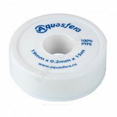 Лента ФУМ PTFE 6020 19ммх0,2ммх15м катушка среда: вода Aquasfera 6020-04