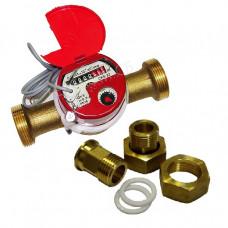 Счетчик для горячей воды с импульсным выходом СКБ-25 Ду25 Т90C 10л/им в комплекте Водоприбор