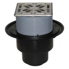 Трап PP с вертикикальным выпуском Дн50/100 решетка из нержавеющей стали сифон Primus 310NPR HL