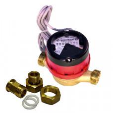 Счетчик горячей воды импульсный ВСГд-15 Ду15 L=110 Т90C 1л/им в комплекте Тепловодомер