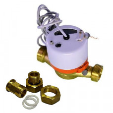 Счетчик для горячей воды с импульсным выходом ВСГд-20 Ду20 Т90C 1л/им в комплекте Тепловодомер