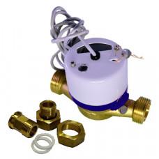 Счетчик для холодной воды с импульсным выходом ВСХд-20 Ду20 Т50C 1л/им в комплекте Тепловодомер